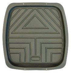 FLOOR MAT REAR DEEP DISH GREY