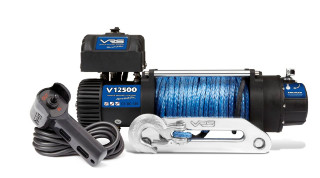 WINCH 12V 12500LBS SYNTHETIC ROPE VRS