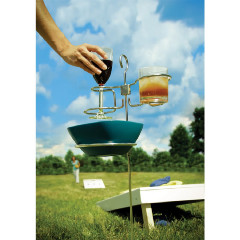TIPSY STIX BEVERAGE & BOWL HOLDER