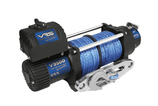 WINCH 12V 9500LBS SYNTHETIC ROPE VRS